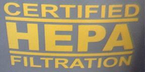 Certified HEPA Filtration